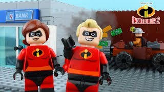 LEGO Incredibles STOP MOTION LEGO Incredibles Underminer Bank Robbery   Incredibles 2   Billy Bricks