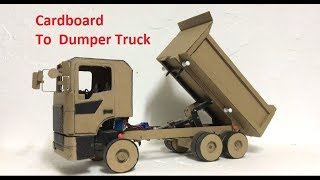 RC Homemade How to make a Remote Control Heavy Dumper Truck Construction Truck Completed project