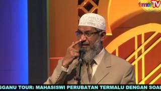 Zakir Naik Terengganu Tour: Pelajar Perubatan Termalu Dengan Soalan Provokasi