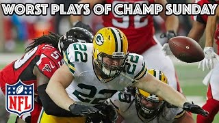 Worst Plays of AFC & NFC Championship Games   NFL Highlights