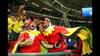 FIFA World Cup: Colombian fans celebrate win vs Poland