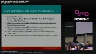 FOSDEM 2015 - Developer Room - Mysql And Friends - Ysql Gdb.mp4