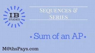 Sum of an AP IB