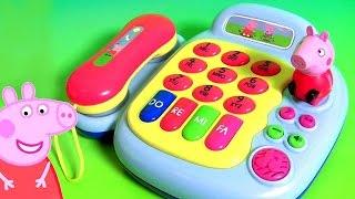 Juguete Teléfono de Peppa Pig Piano Phone | Peppa Pig Telefone Musical Chamando a Princesa Elsa