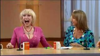 Faith Brown's huge breasts ogled by  Suzanne Shaw!.mp4