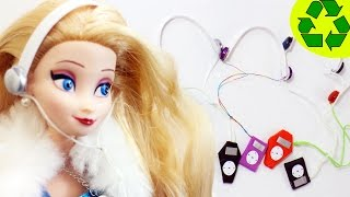 How to make doll mp3 player with headphones - Doll Crafts - simplekidscrafts - simplekidscrafts