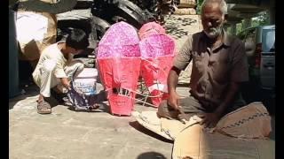 The making of ravana at Titarpur village, Delhi