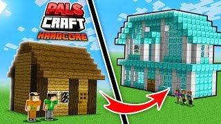 THE PALS NOOB vs. PRO HOUSE! | PalsCraft 3 - Hardcore Survival (Episode 7)