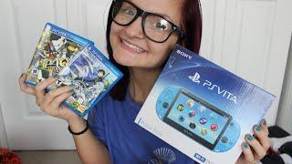 Aqua Blue PS Vita Unboxing + Start Up + Games! | AlyssaNGames |