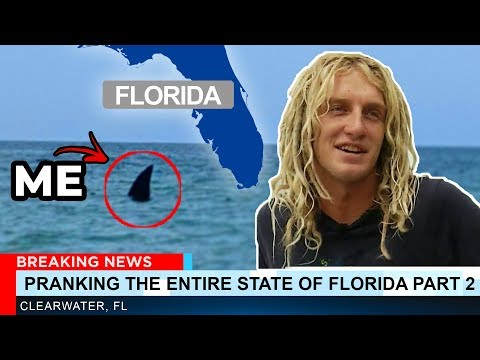 PRANKING THE ENTIRE STATE OF FLORIDA PART 2 Megalodon Shark Prank JOOGSQUAD PPJT