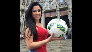 The most beautiful girl playing better than Cristiano and Messi watched now