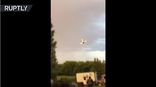 RAW: Fatal moment plane corkscrews to the ground while performing air stunts