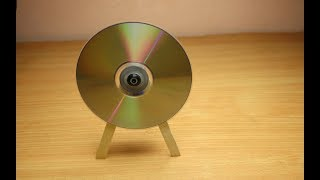 How to Make Gyroscope Toy - Incredible Toy From DC MOTOR and CD