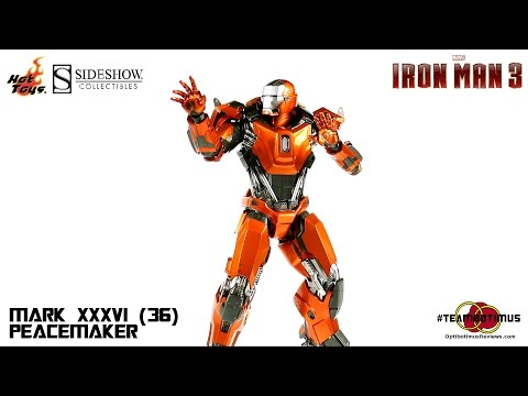 Video Review of the Hot Toys Iron Man 3: Mark XXXVI (36) Peacemaker