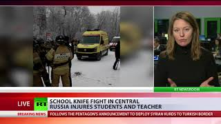 At least 15 injured in a knife rampage at a school in the Russian city of Perm