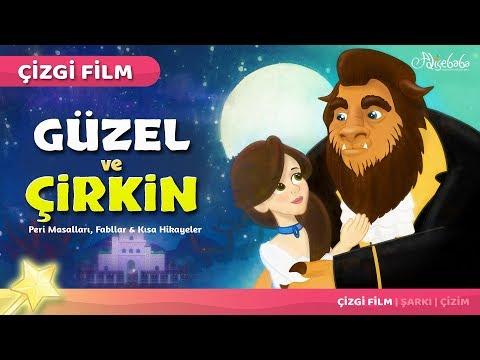 Güzel ve Çirkin Çizgi Film Türkçe Masal 11 Adisebaba Çizgi Film Masallar