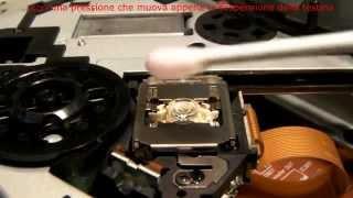 Pulire la testina o lente di un lettore cd