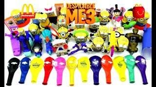 McDONALD'S DESPICABLE ME 3 HAPPY MEAL TOYS BALLOONS MINIONS FULL WORLD SET 29 KIDS KINDER UK US 2017