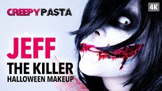 Creepy Pasta - Jeff The Killer Halloween Makeup Tutorial