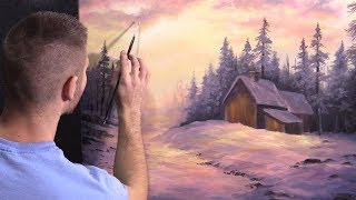 Snowy Christmas | Paint with Kevin®