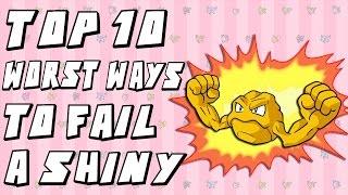 Top 10 Worst Ways to Fail a Shiny Pokemon