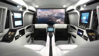 Luxury Cadillac Escalade Sky Captain Piano Edition Mobile Office  by Lexani Motorcars