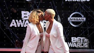 BET Awards Fashion + Blac Chyna, Amber Rose Kiss On The Carpet