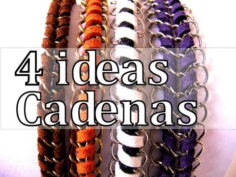 Manualidades DIY 4 Ideas para crear con Cadenas