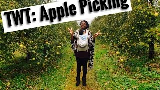 Traveling with Twins - Apple Picking