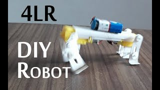 How to make a four leg walking robot very easy