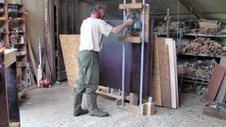 Homemade Panel Saw From Pipes And Castors -- Every Workshop Should Have One!