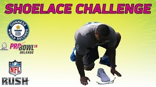 Shoelace Challenge: NFL Pro Bowlers Attempt to Break the Guinness World Record | NFL RUSH