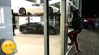 SNEAKING INTO SUPERCAR STORE! *Stealing Dream Car Goes Wrong...* | David Vlas