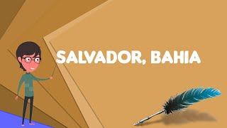 What is Salvador, Bahia? Explain Salvador, Bahia, Define Salvador, Bahia, Meaning of Salvador, Bahia