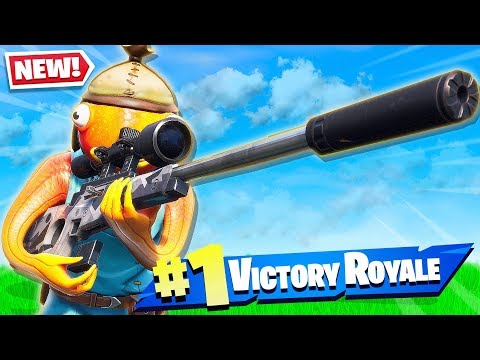 FORTNITE NEW SILENCED SNIPER GAMEPLAY New Battle Royale Weapon