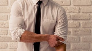Here's the right way to roll up your shirtsleeves