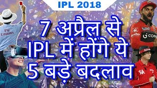 IPL 2018 : List of 5 New Rules & Changes In IPL From 7 April 2018   IPL 11 Rules
