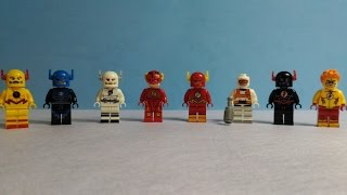 DC - Super Heroes - Flash - Reverse Flash -  Zoom - KidFlash Lego Knockoff Minifigure
