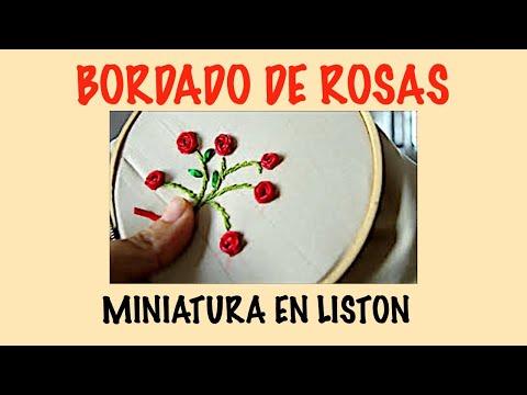 BORDADO DE ROSAS EN LISTON