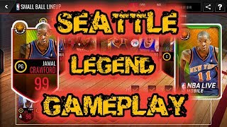 NEW 99 OVR SEATTLE COURTS LEGEND JAMAL CRAWFORD GAMEPLAY + SEATTLE COURTS LEGEND PACK OPENING!!!