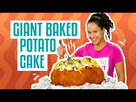 How To Make Your FAVE COMFORT FOOD out of CAKE GIANT BAKED POTATO Yolanda Gampp How To Cake It