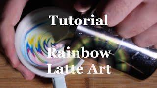 Coffeefusion Tutorials - Rainbow Latte Art