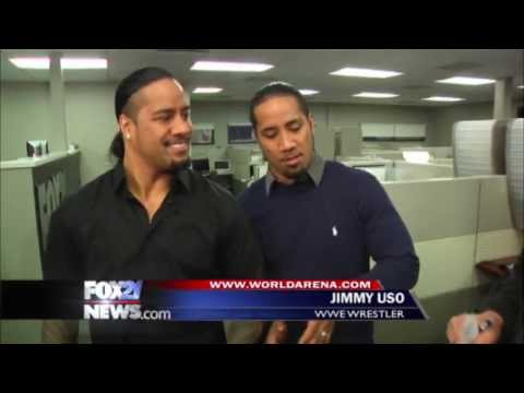 WWE Superstars take over FOX21 Morning News parts 3&4