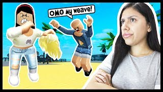 I GOT IN A FIGHT & SNATCHED HER WEAVE! - Roblox Roleplay - Weight Lifting Simulator 3