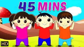 Head Shoulders Knees & Toes Plus Lot More Videos 45 Minutes & More Compilation from Shemaroo Kids