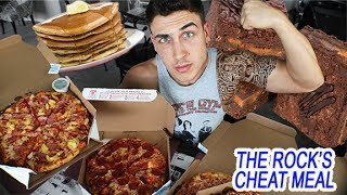 The Rock's 10,000 Calorie Cheat Meal Challenge
