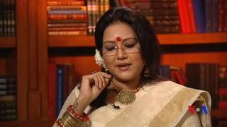 Anindita Kazi reciting from poet Nazrul