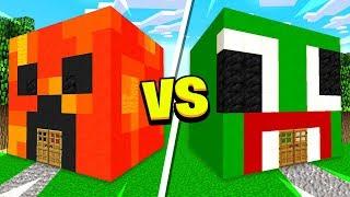 MINECRAFT PRESTONPLAYZ HOUSE vs UNSPEAKABLE HOUSE!