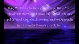 LIVE Adam Levine   Purple Rain Prince Cover LYRICS VIDEO 2016