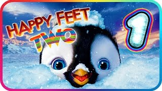 Happy Feet Two Walkthrough Part 1 (PS3, X360, Wii) ♫ Movie Game ♪ Level 1 - 2 - 3